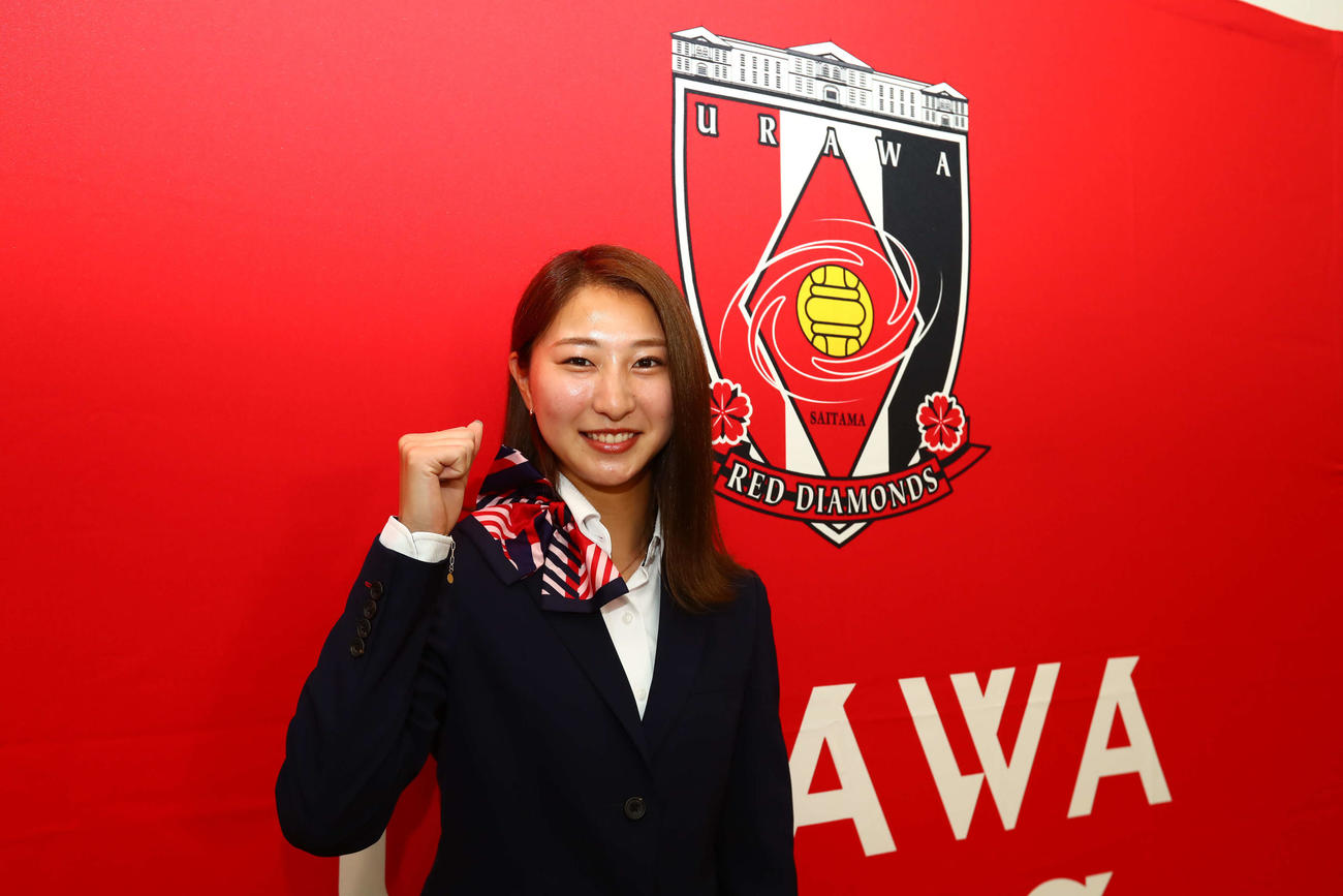 東京五輪に臨む「なでしこジャパン」のメンバーに選出された、三菱重工浦和MF塩越柚歩(クラブ提供)