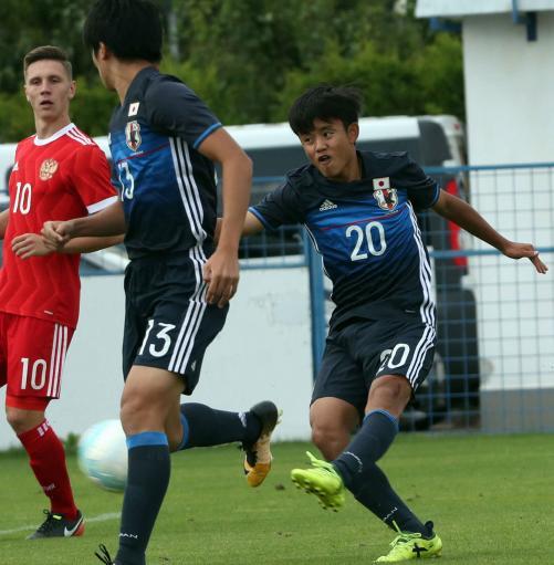 【サッカー】U17久保建英、左足で決勝点 ロシア倒し好発進
