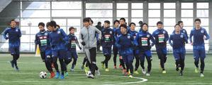 J3秋田イレブンは連覇のかかるリーグ開幕に向けて調整