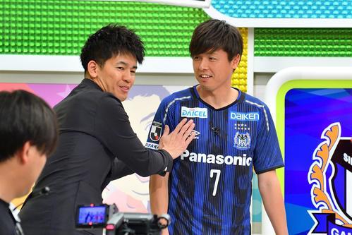 武井壮(左)から「主婦系MF」と命名? されたガンバ大阪の遠藤保仁選手