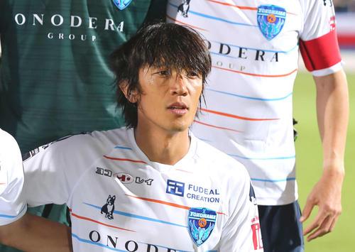 横浜FC中村俊輔(2019年8月14日撮影)