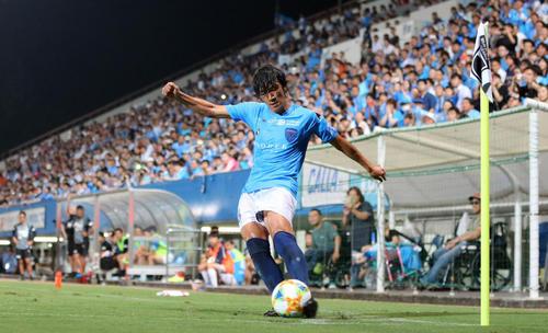 横浜FC中村俊輔(19年7月撮影)