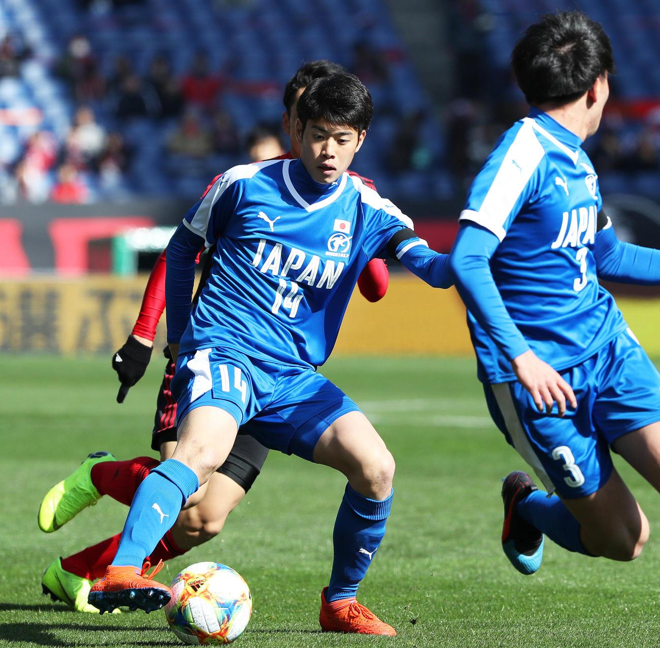 U18代表の市船橋MF鈴木唯人が来季清水に加入 - J1 : 日刊スポーツ