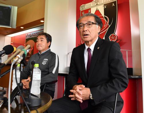 浦和立花洋一社長(右)(2019年5月29日撮影)