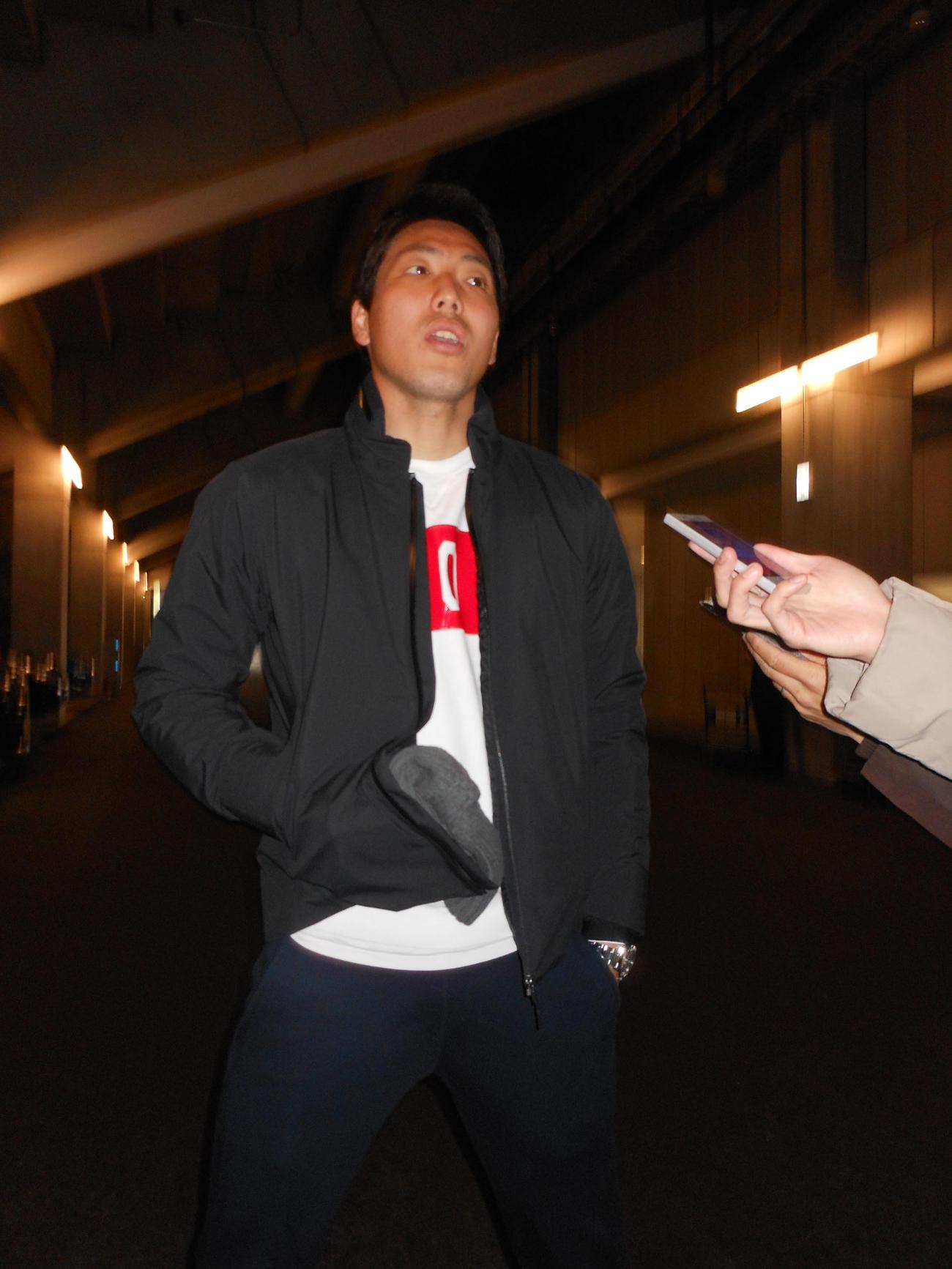 G大阪DF昌子は自身の右足首の状況について説明する