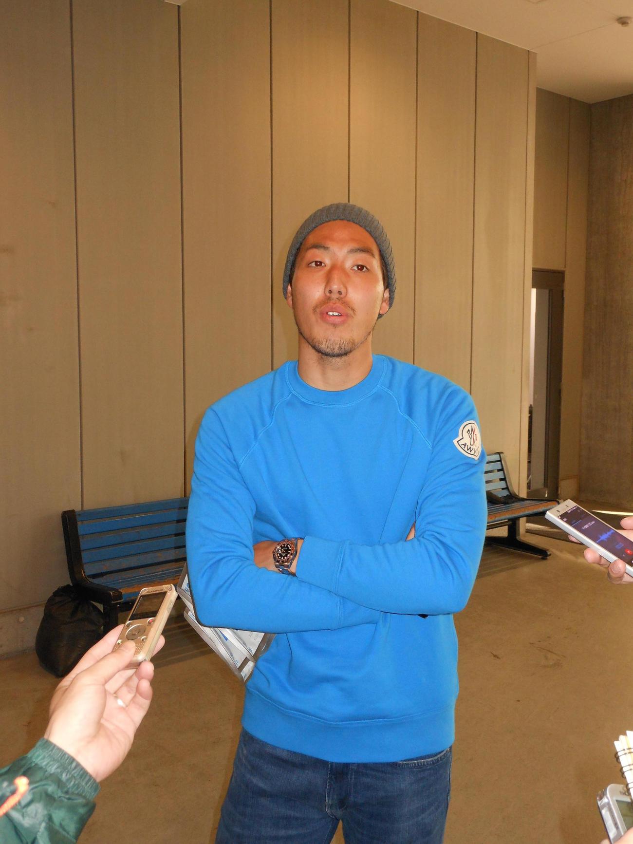 移籍後初めて練習試合に出場したG大阪DF昌子は納得の表情