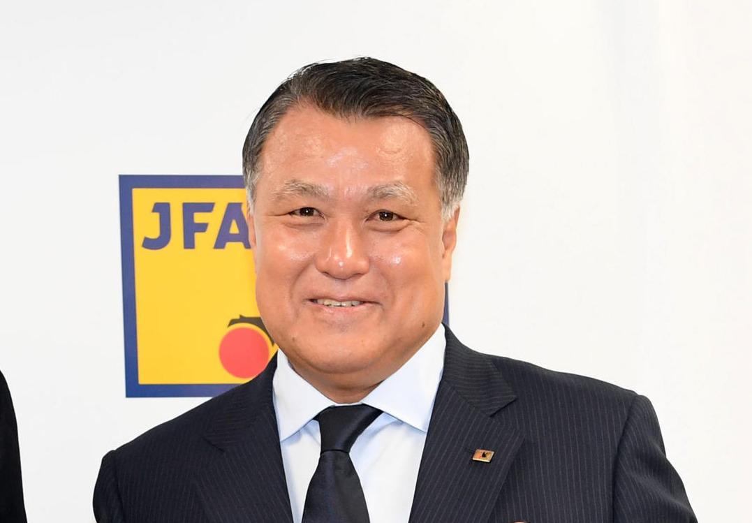 日本サッカー協会・田嶋幸三会長(2019年9月5日撮影)