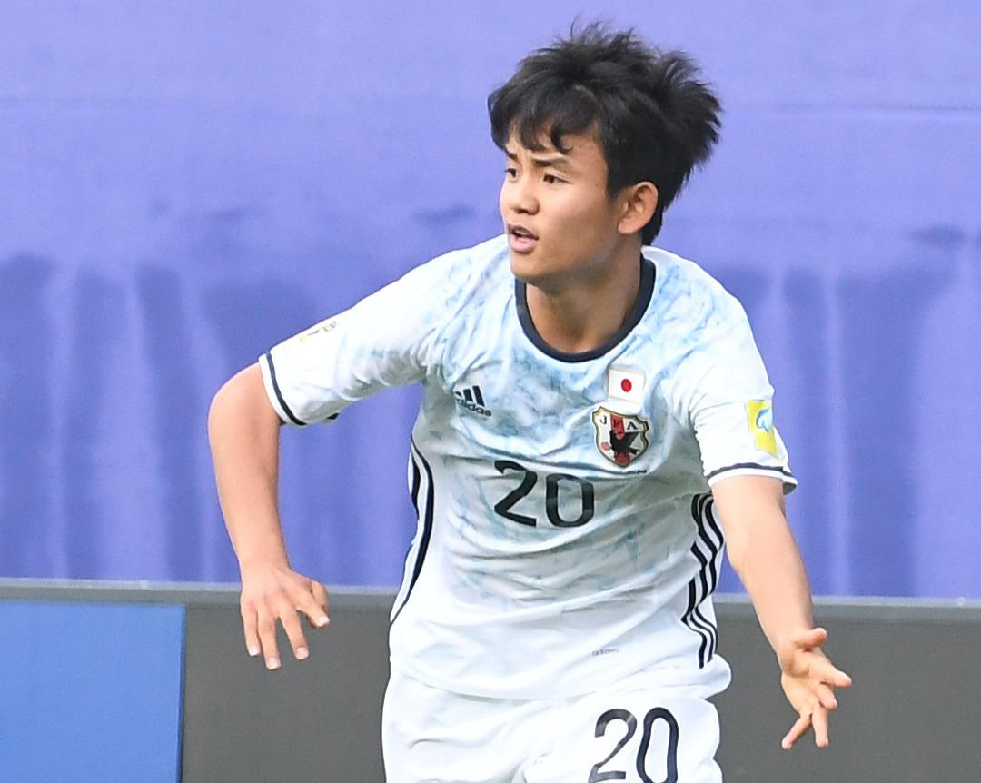 U-20W杯韓国大会 日本対ベネズエラ ボールを要求する久保建英(2017年5月30日撮影)