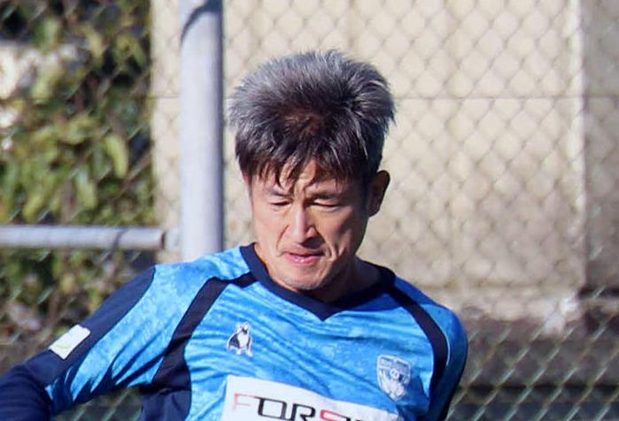 横浜FC・FWカズ(2019年10月撮影)