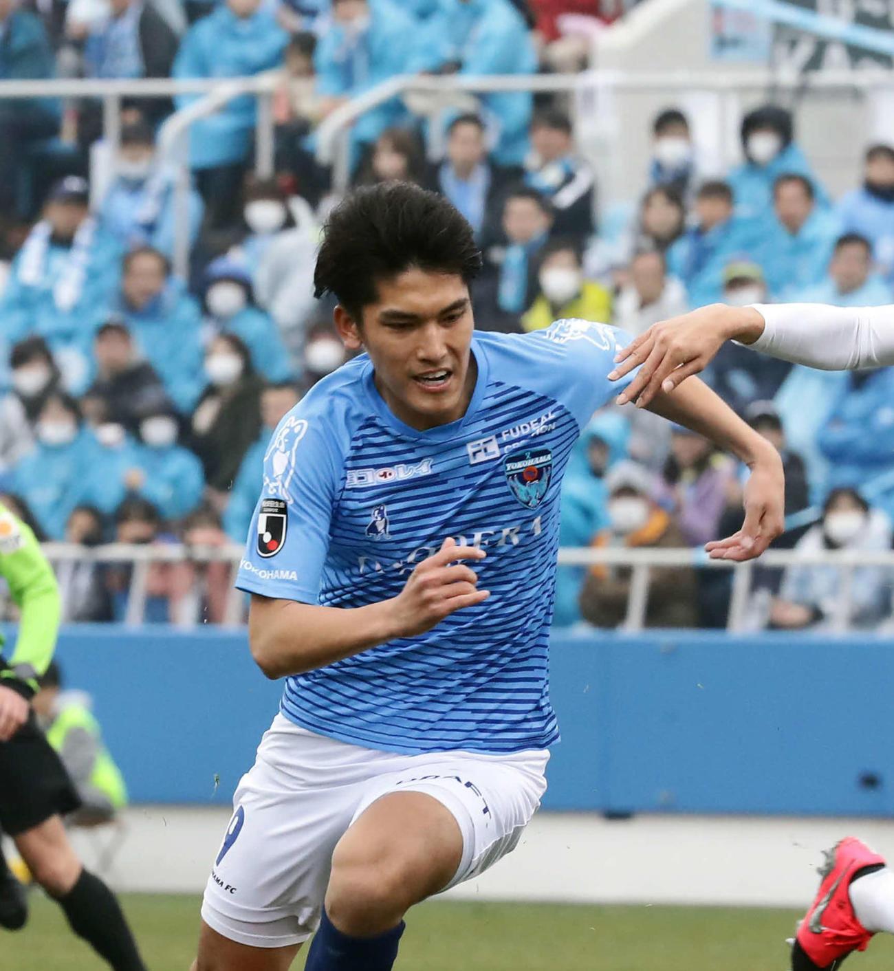 横浜FC・FW一美和成(2020年2月16日撮影)