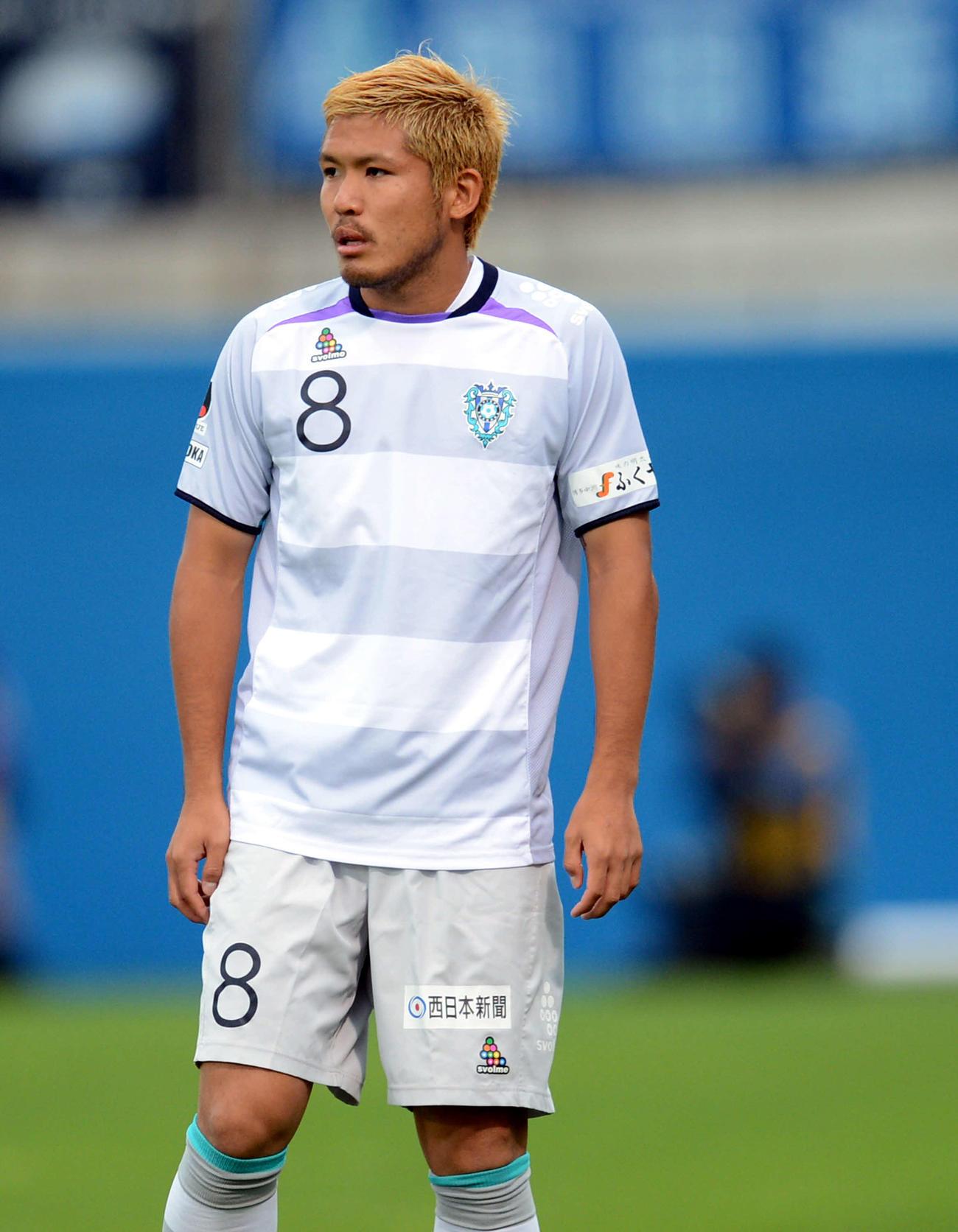 福岡MF鈴木惇(2012年6月24日撮影)