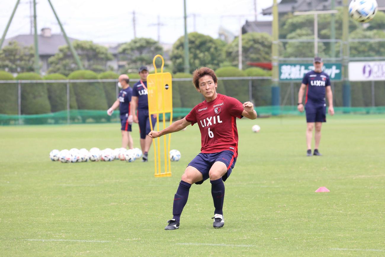 練習中の鹿島MF永木亮太(C)KASHIMA ANTLERS