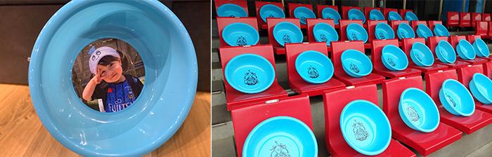 川崎Fが実施する「Re/☆☆☆ト(リスタート)」プロジェクトの一環として販売される「桶(オーケ)ストラシート」のイメージ写真(クラブ提供)