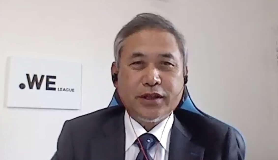 WEリーグの岡島チェア就任web会見に出席したJFA理事の佐々木則夫氏
