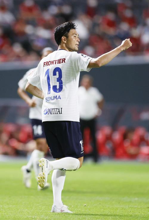 札幌―横浜FC 後半、同点ゴールを決め喜ぶ横浜FC・瀬沼(共同)