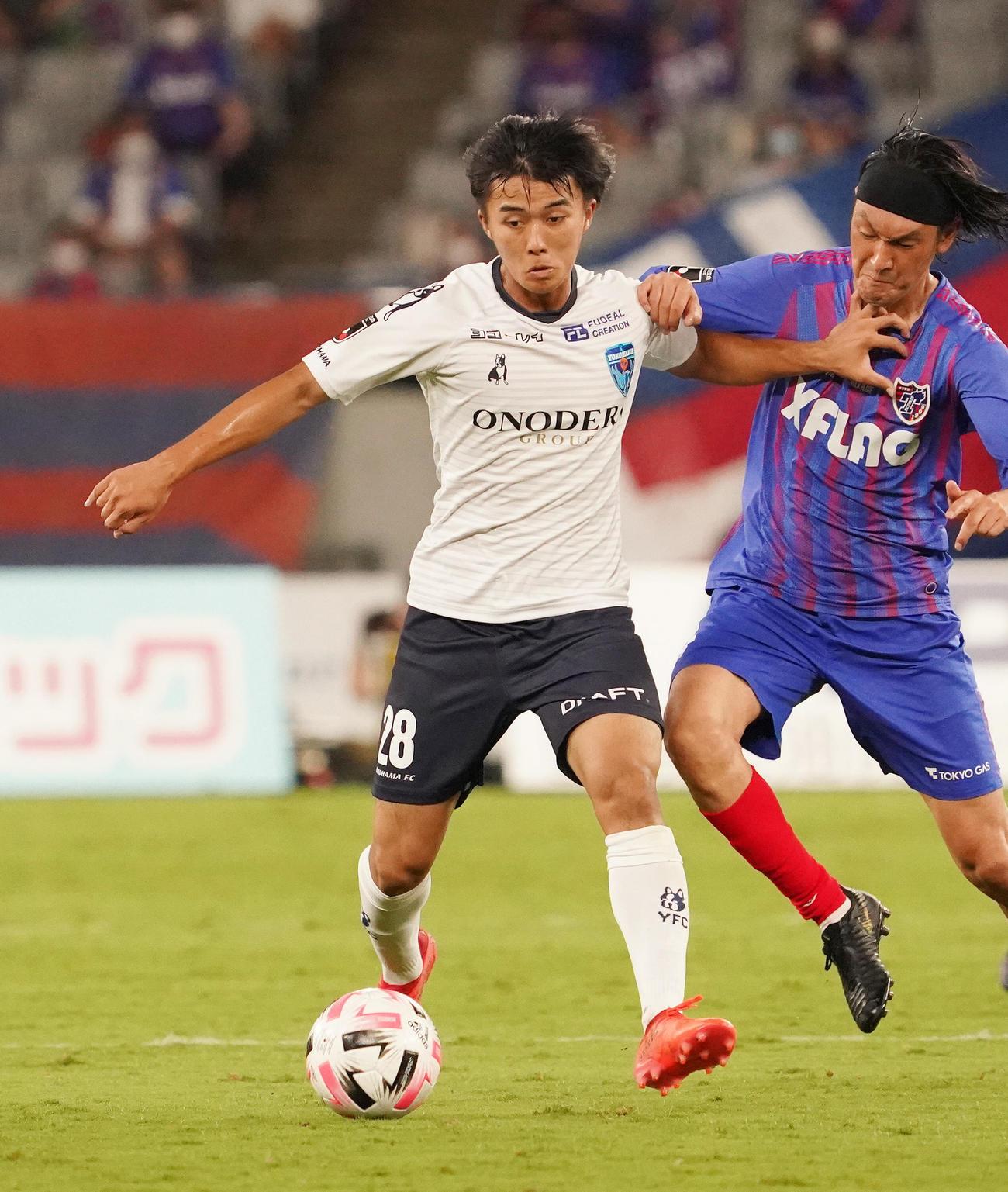 横浜FC・MF安永玲央(2020年9月9日撮影)