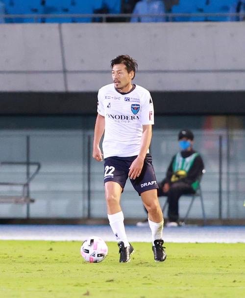 川崎F対横浜FC前半先発出場横浜FC・MF松井(撮影・江口和貴)