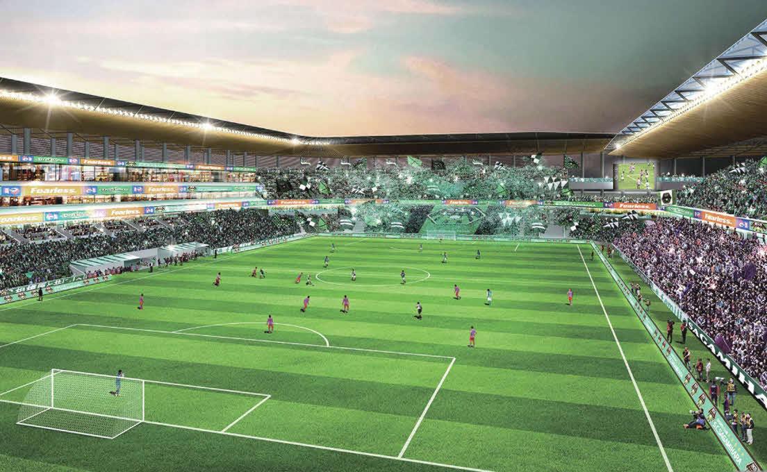 J3相模原が建設を目指す新スタジアムのイメージ図
