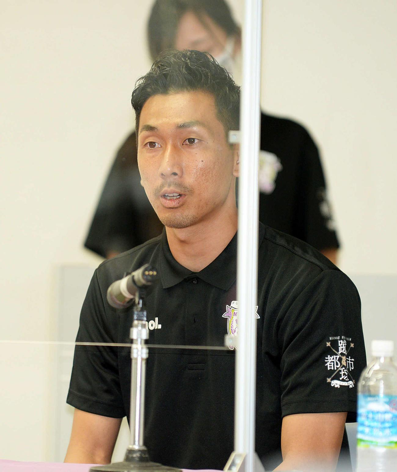 J2昇格に向けての決意を新たにした藤枝GK杉本主将