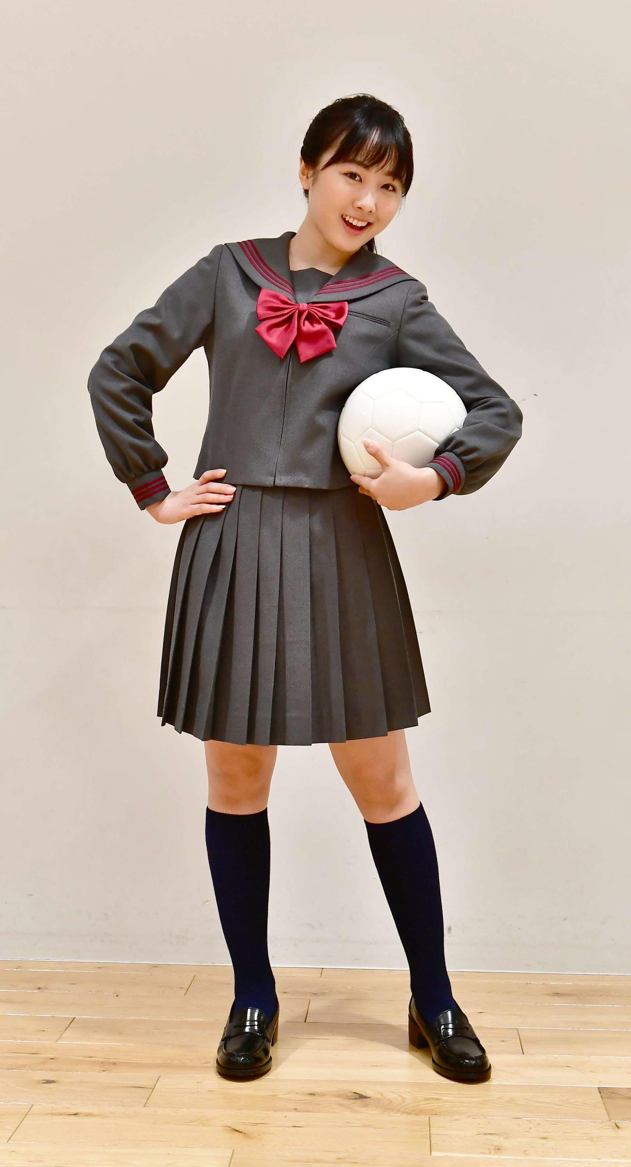 第99回全国高校サッカー選手権大会の応援マネジャーに就任した本田望結