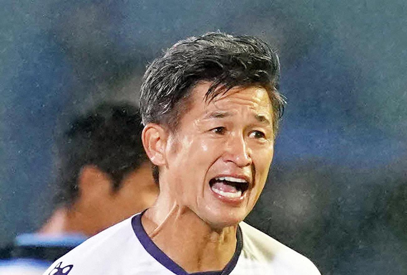 横浜FCのFWカズ(2020年9月23日撮影)
