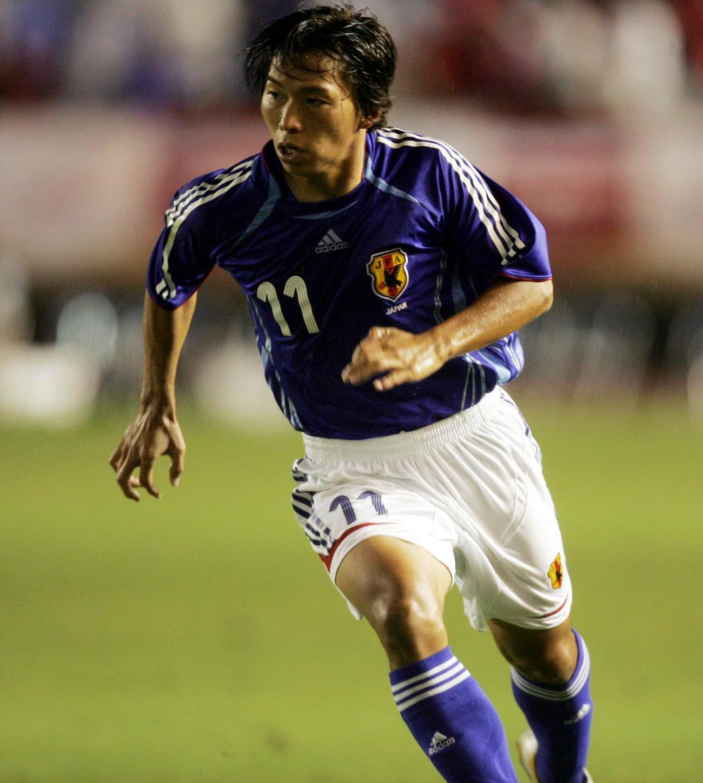 親善試合・トリニダード・トバゴ戦に出場した日本代表FW佐藤寿人(2006年8月9日撮影)