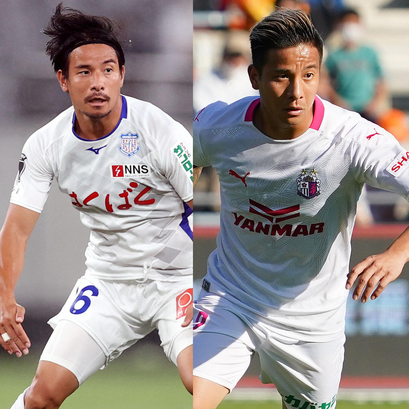 松田力(左)と双子の兄・陸