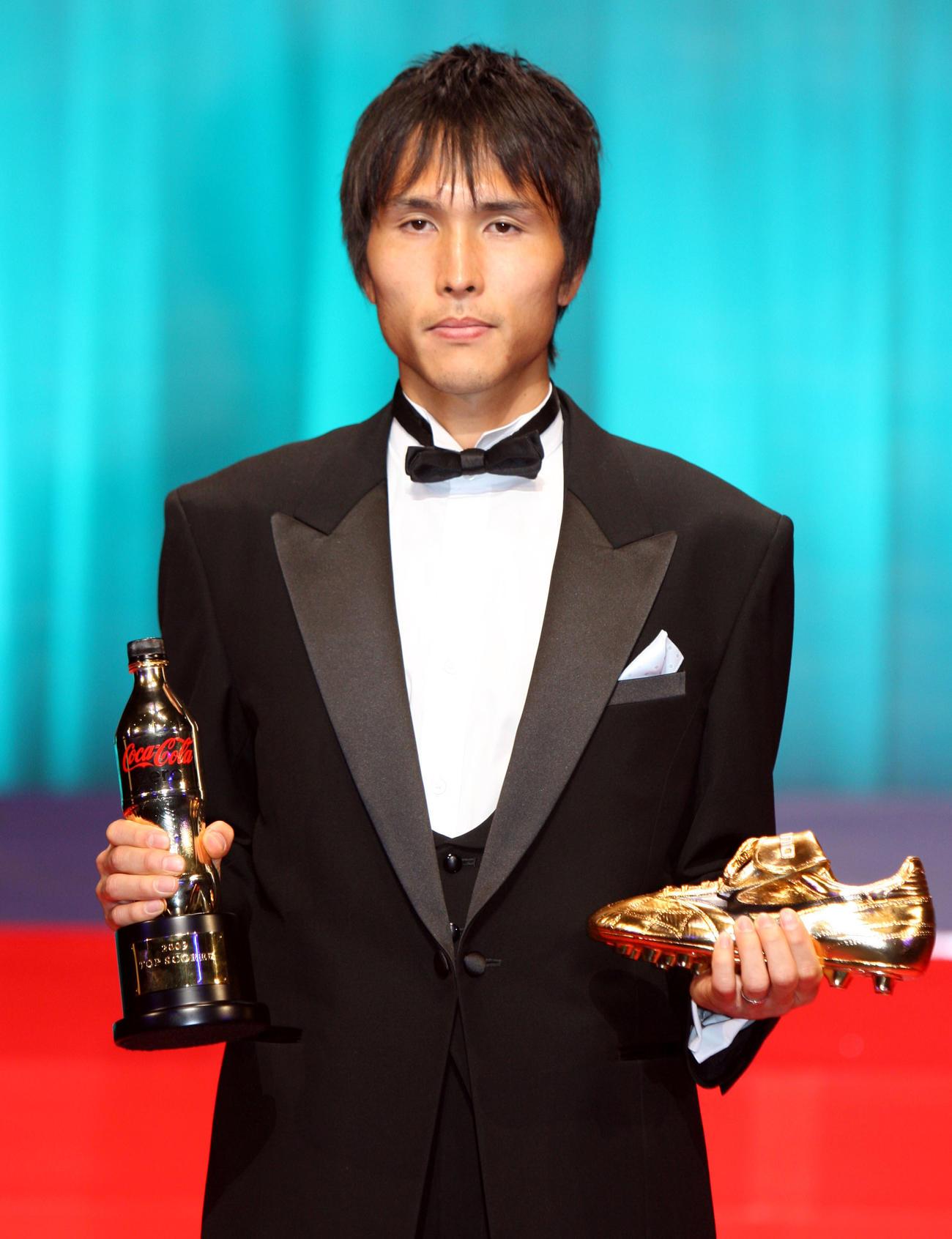 得点王のFW前田遼一(2009年12月7日撮影)