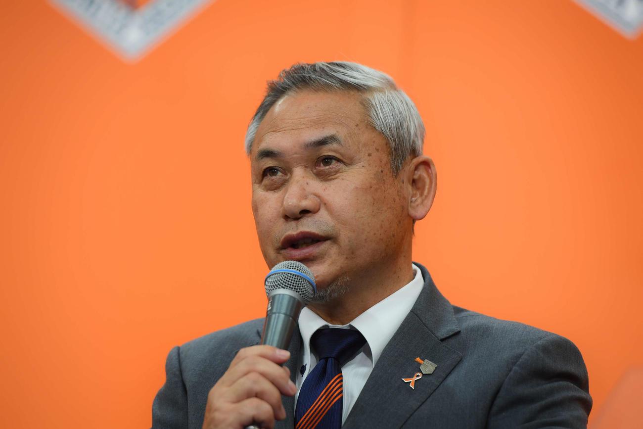 新体制発表会に出席した佐々木則夫総監督(写真提供:大宮アルディージャ)