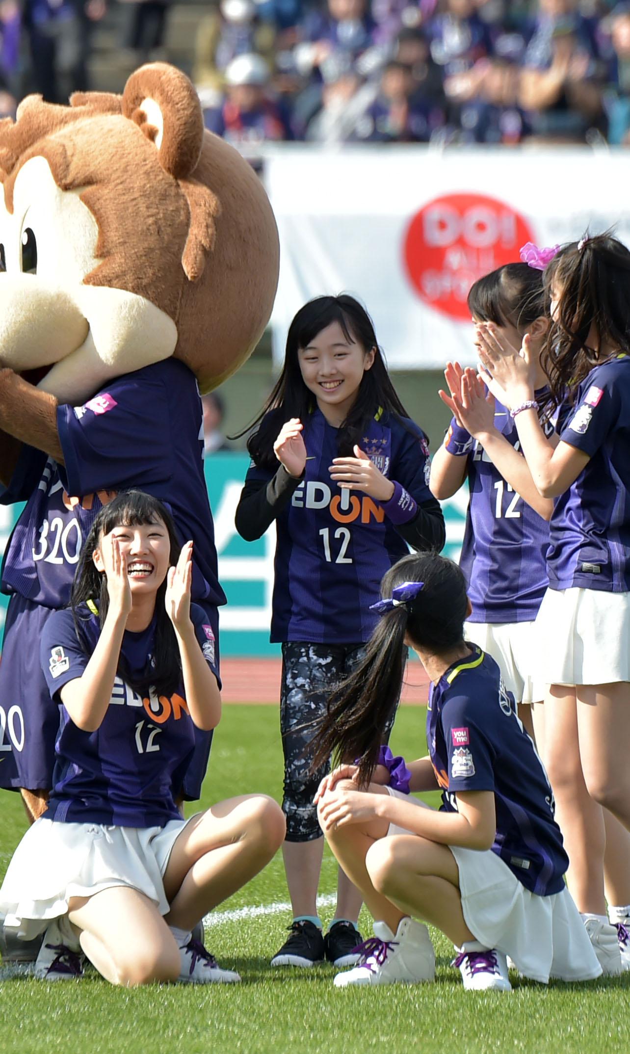 17年2月25日、開幕の新潟戦にゲスト出演した本田望結