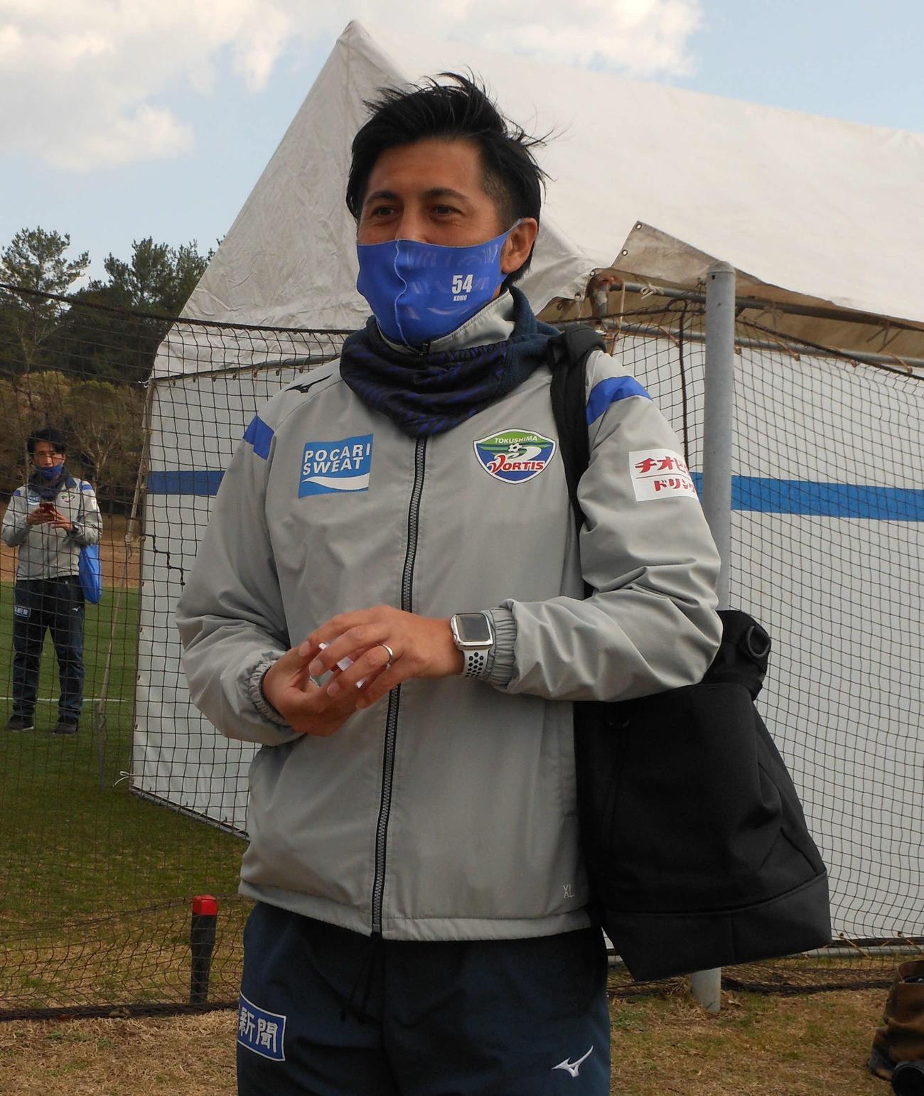 徳島甲本偉嗣ヘッドコーチ(2021年2月4日撮影)