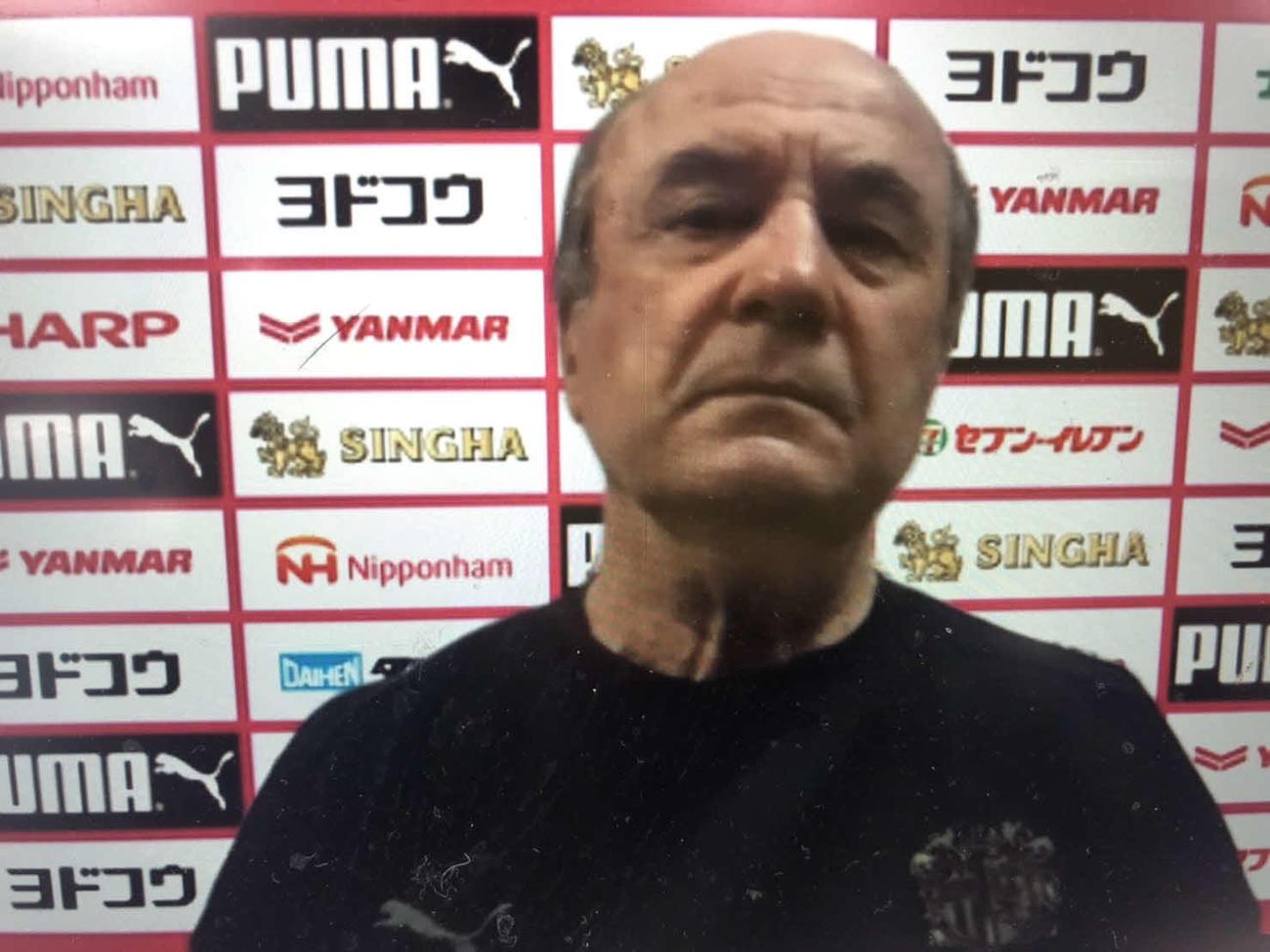 川崎F戦に向けた非公開調整後にオンライン会見したC大阪のレビークルピ監督