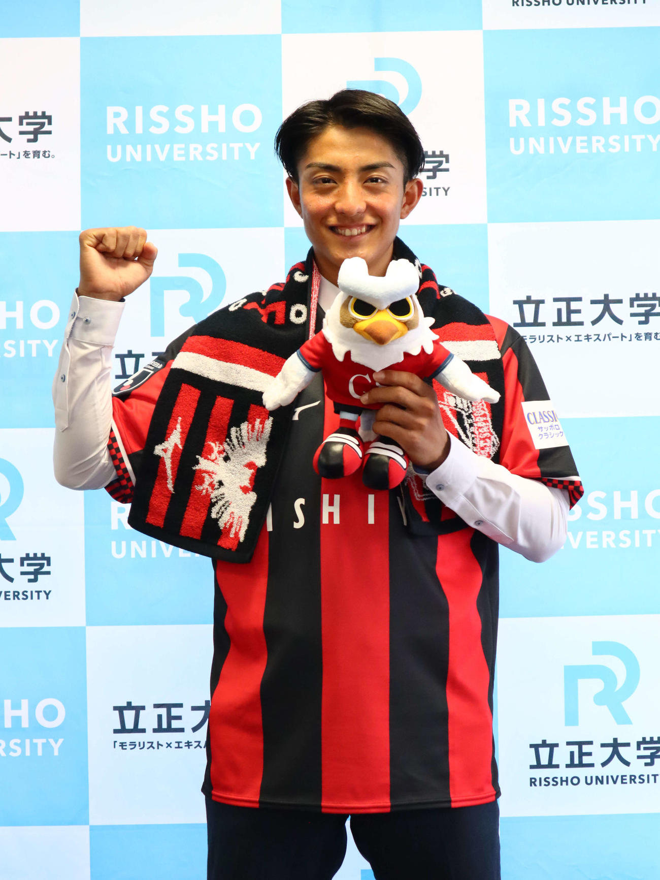 札幌への来季加入が内定した立正大MF田中宏武(C)2021 RISSHO Univ.
