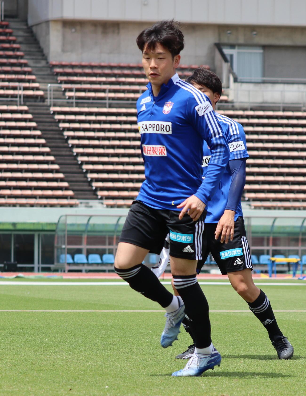 好調の矢村はが3試合連続ゴールを狙う(アルビレックス新潟提供)