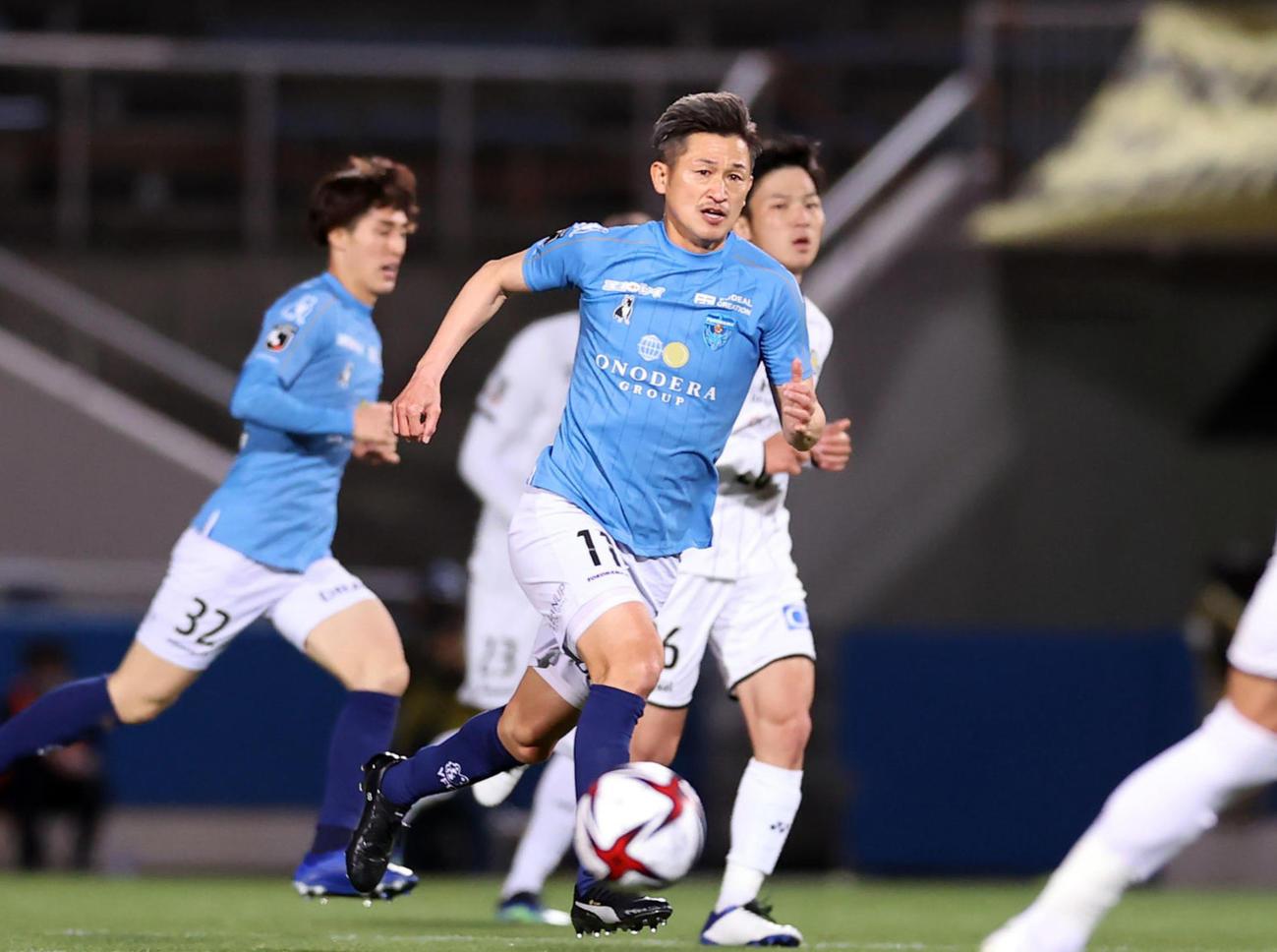 横浜FCカズ(2021年4月28日撮影)
