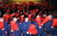 青森山田、母校ゴールラッシュに大歓声 総立ち万歳 - サッカー : 日刊スポーツ