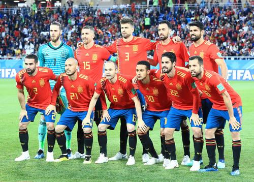 スペイン代表イレブン=2018年6月25日