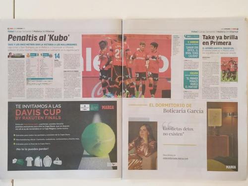 マジョルカMF久保の活躍を大々的に報じる11日付スペイン紙マルカ