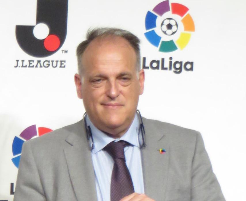 スペインリーグのハビエル・テバス会長(2017年6月22日撮影)