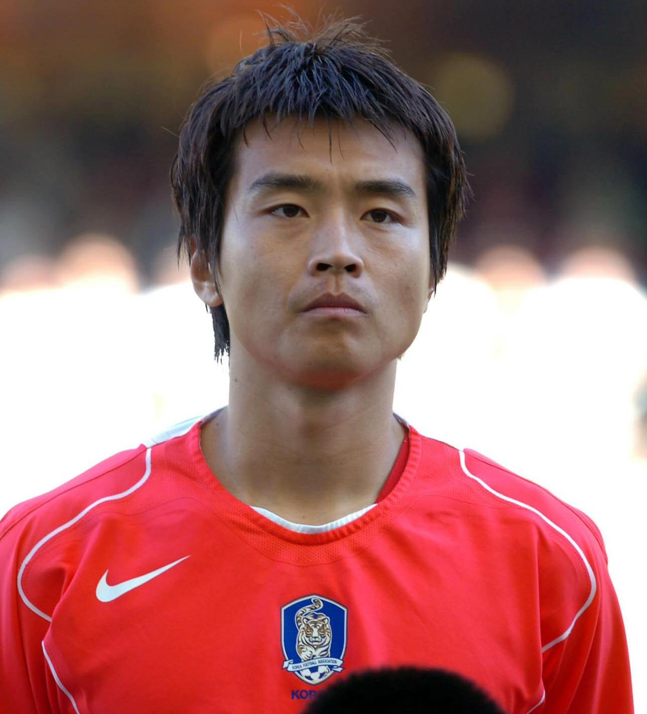 韓国代表時代の李同国(2006年1月29日撮影)
