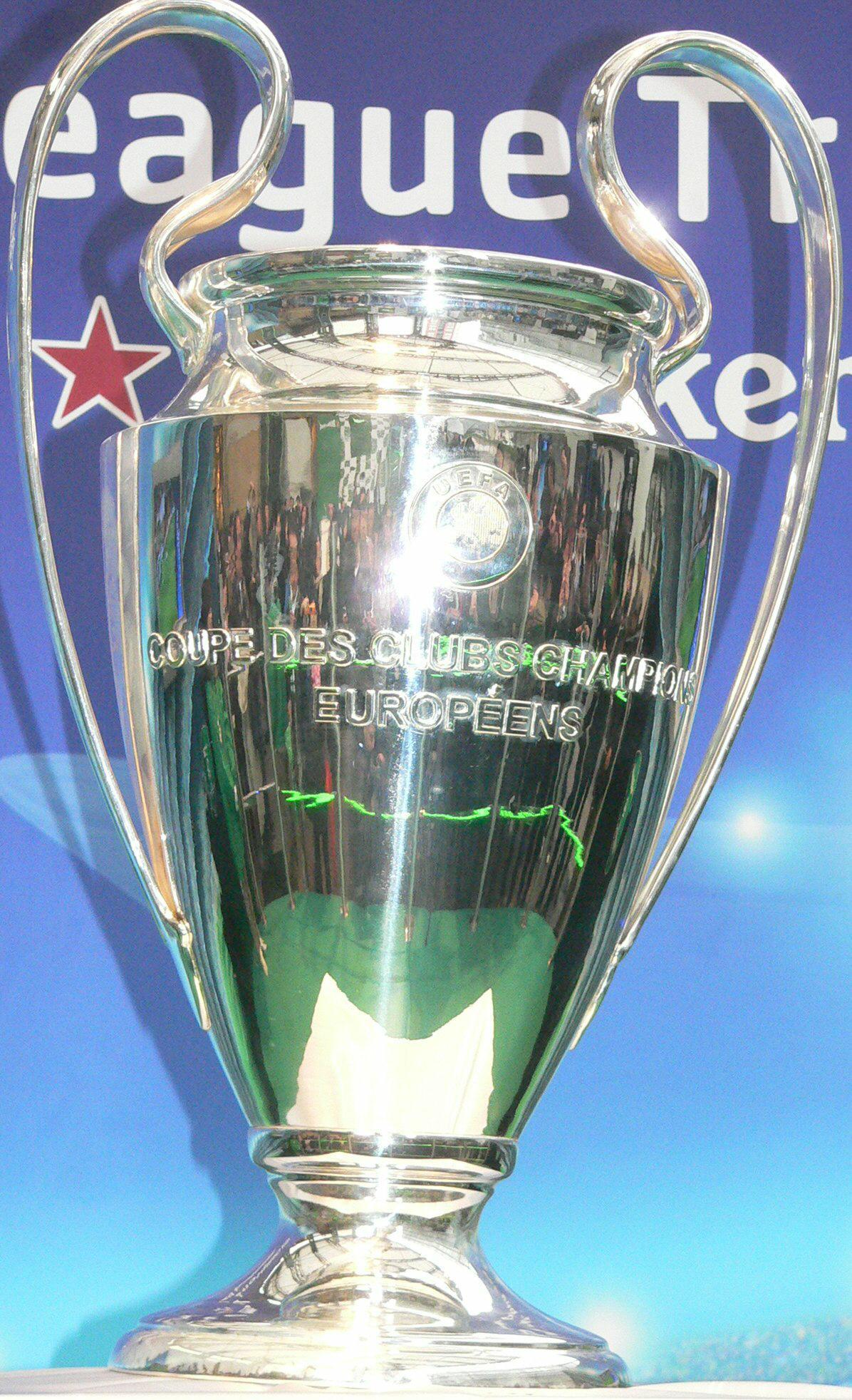 欧州CLの優勝トロフィー(07年2月撮影)