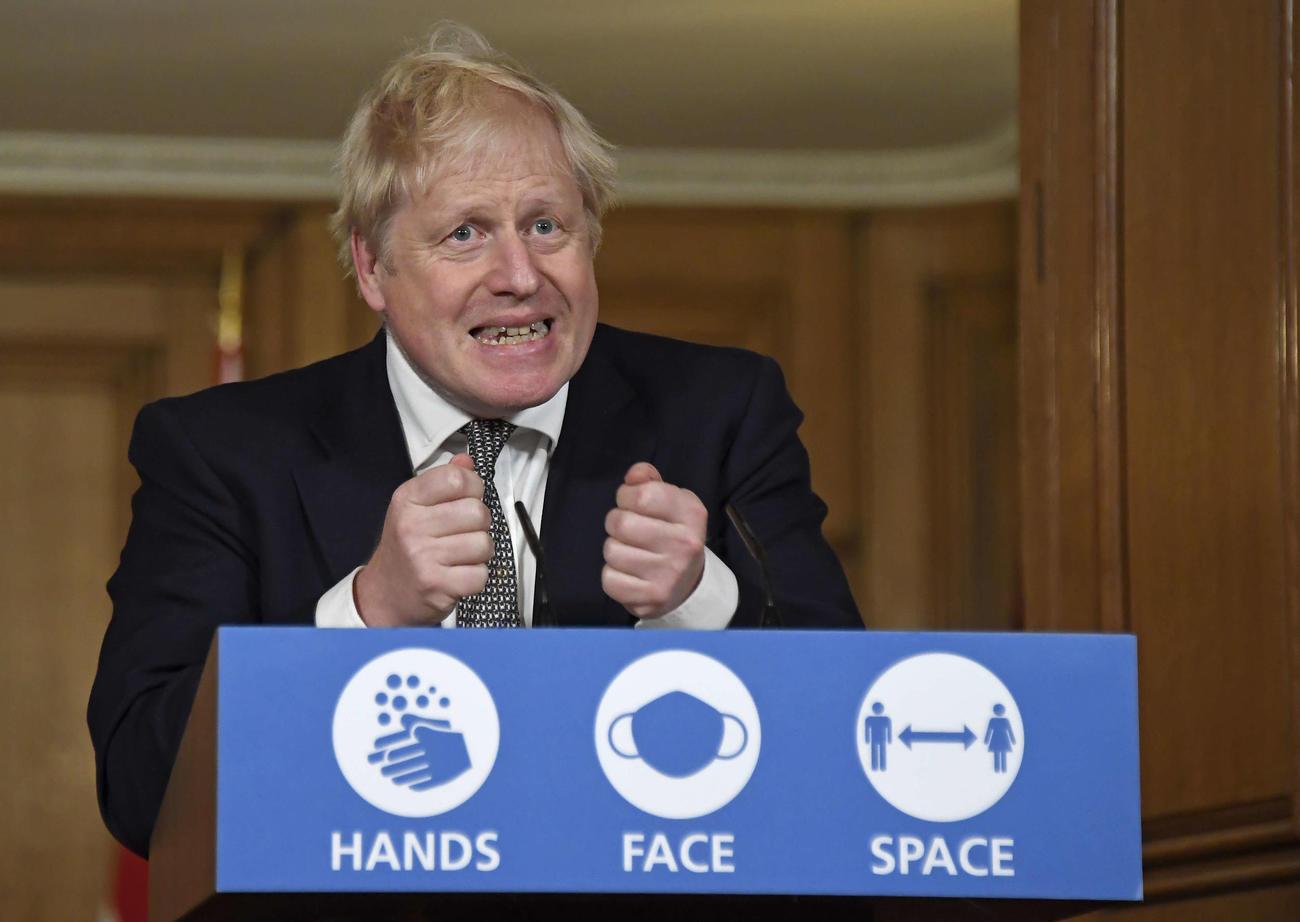 英国のジョンソン首相(AP)