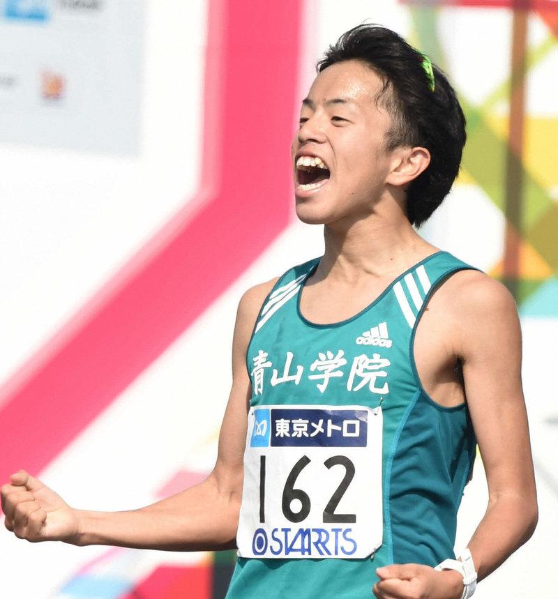 青学大5区下田裕太負傷か、左足引きずり4位に後退