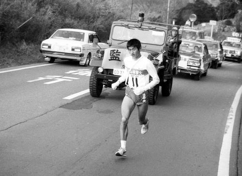 第59回大会 6区で区間賞を獲得した日体大の谷口浩美(1983年1月3日)