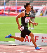 山県亮太、国内2人目の9秒台に100分の2秒迫る - 陸上 : 日刊スポーツ