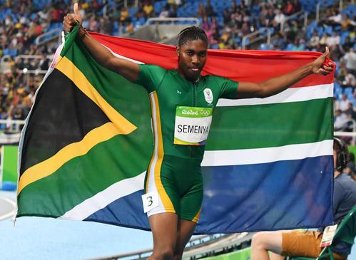 リオ五輪陸上女子800メートル決勝で金メダルを獲得したキャスター・セメンヤ(16年8月撮影)