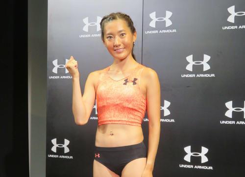 MGCで着用するユニホームで笑顔を見せる岩出(撮影・上田悠太)