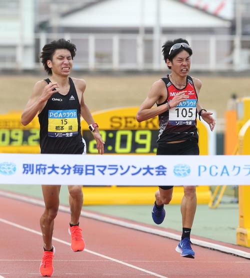 橋本崚(左)と岩田勇治(2019年2月3日)