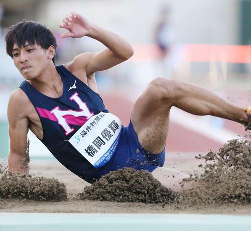 8月の陸上ナイトゲームズ・ イン福井で8メートル32を跳んだ橋岡