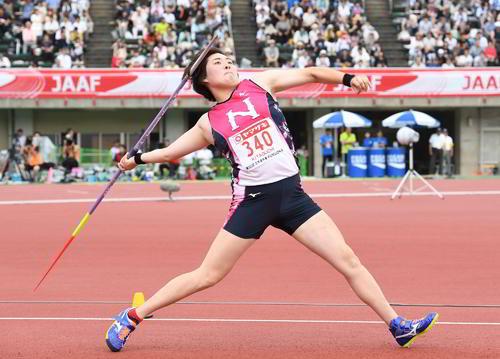 今年6月の日本選手権、決勝4本目で自身が直前に出した大会新記録を更新した北口